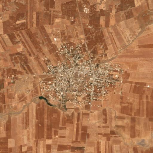 satellite view of the region around Krak Canatha