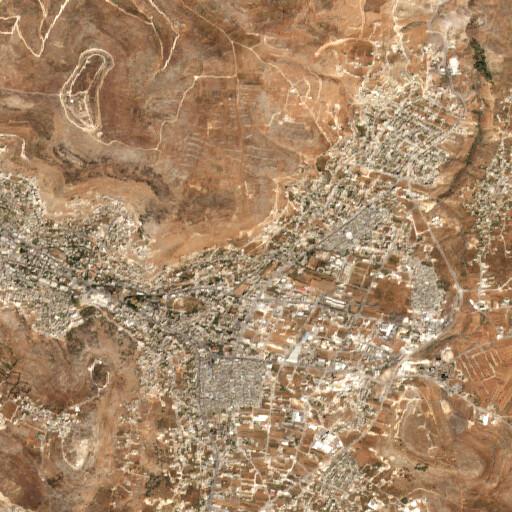 satellite view of the region around Askar