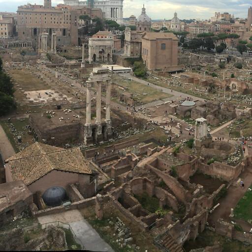 panorama of ruins at Rome