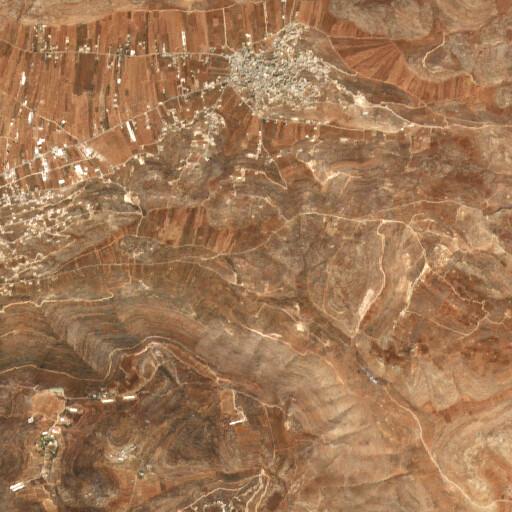 satellite view of the region around Khirbet Tana el Fauqa
