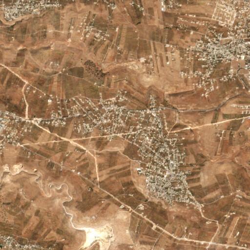 satellite view of the region around Zaharet