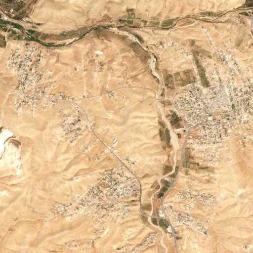 satellite view of the region around Tell er Reheil