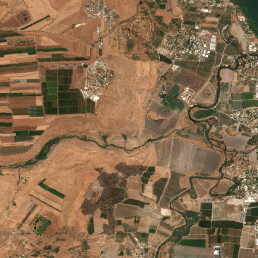 satellite view of the region around Horbat Kush