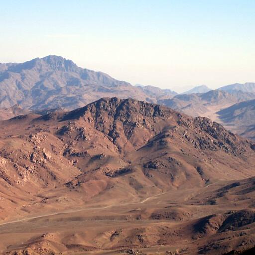 panorama of Jebel Musa