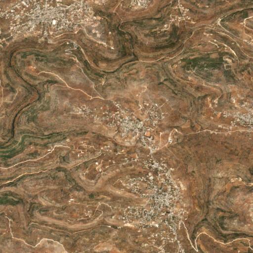 satellite view of the region around Deir Ghassaneh