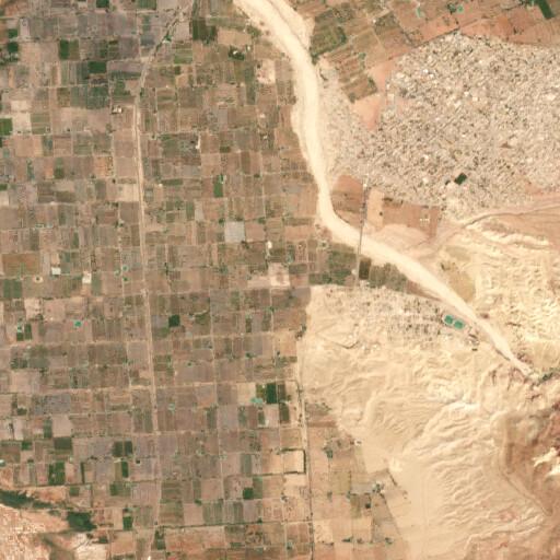 satellite view of the region around Tell al Sheikh Isa