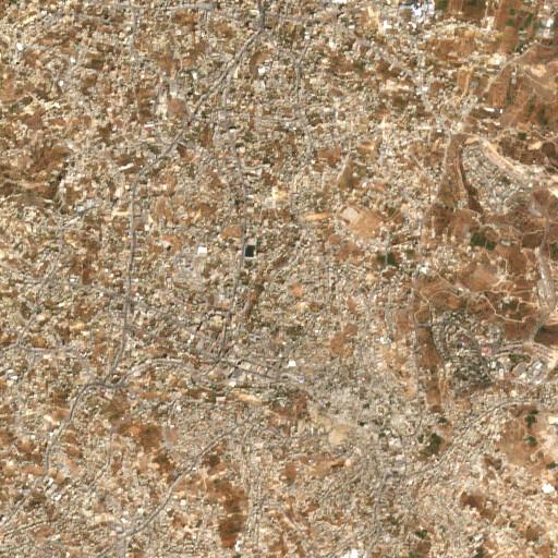 satellite view of the region around Khirbet Nimreh