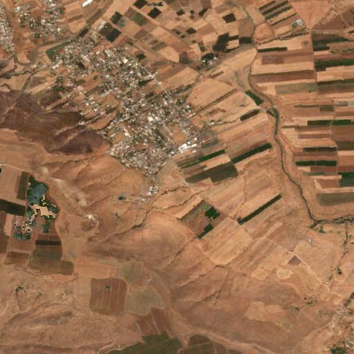 satellite view of the region around Horbat Yamma