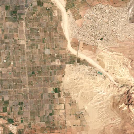 satellite view of the region around Tawahin el Sukkar