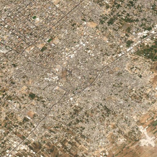 satellite view of the region around Tell Harube