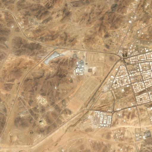 satellite view of the region around Mahd adh Dhahab