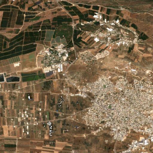 satellite view of the region around Tel Emek