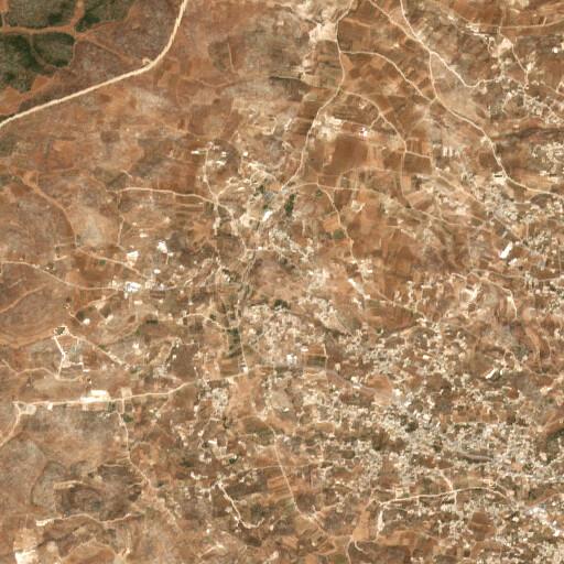 satellite view of the region around Khirbet Qila