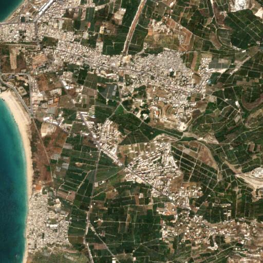 satellite view of the region around Rameh