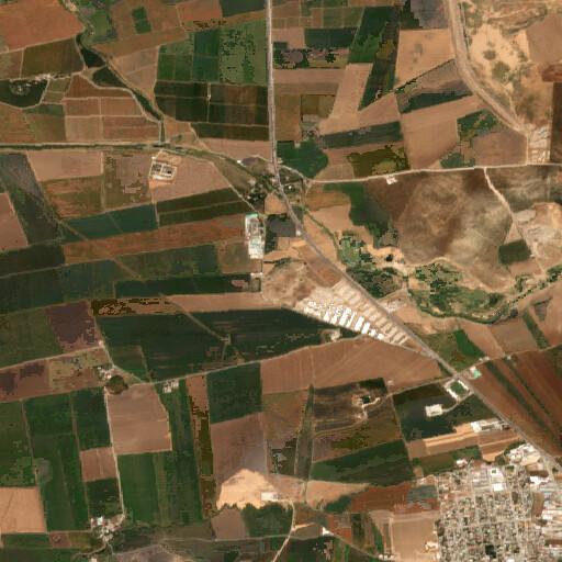 satellite view of the region around Chatal Huyuk