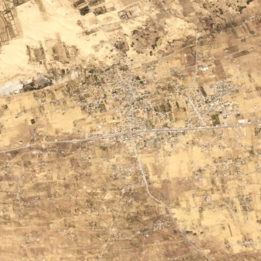 satellite view of the region around Sheikh ez Zuweid