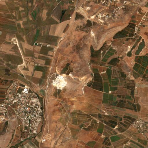 satellite view of the region around Khirbet Serada