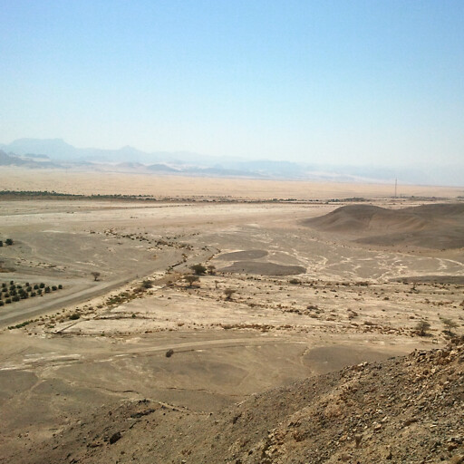 panorama in the region between the Dead Sea and the Gulf of Aqaba