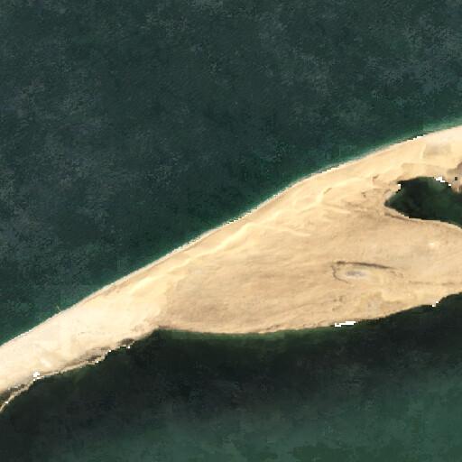 satellite view of the region around Zahr al Qais