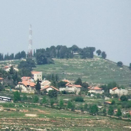 panorama of Khirbet Adasa, which is the hill