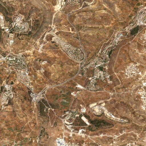 satellite view of the region around Rujm es Sabit