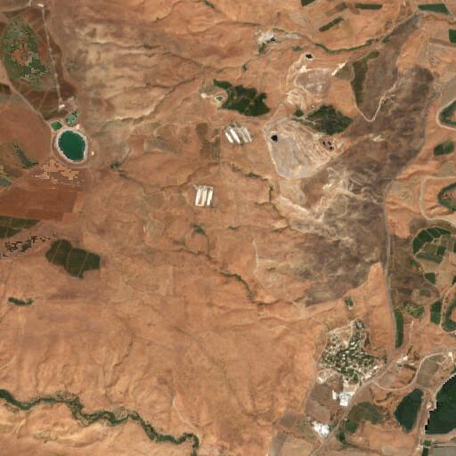 satellite view of the region around Khirbet Idma