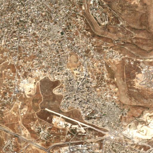 satellite view of the region around Khirbet Atara