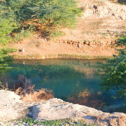 closeup of the Karun River