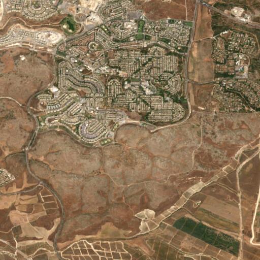 satellite view of the region around Khirbet el Hadatha