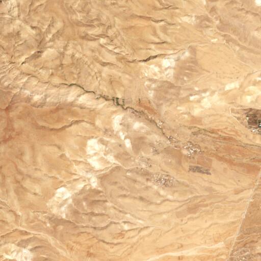 satellite view of the region around Khirbet el Aujah el Foqa