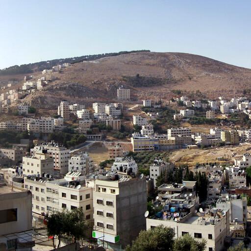 panorama of Mount Ebal
