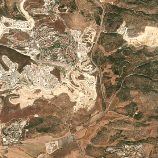 satellite view of the region around Khirbet Umm edh Dhiyab