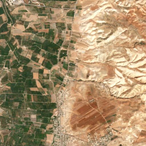 satellite view of the region around Tell el Hamme