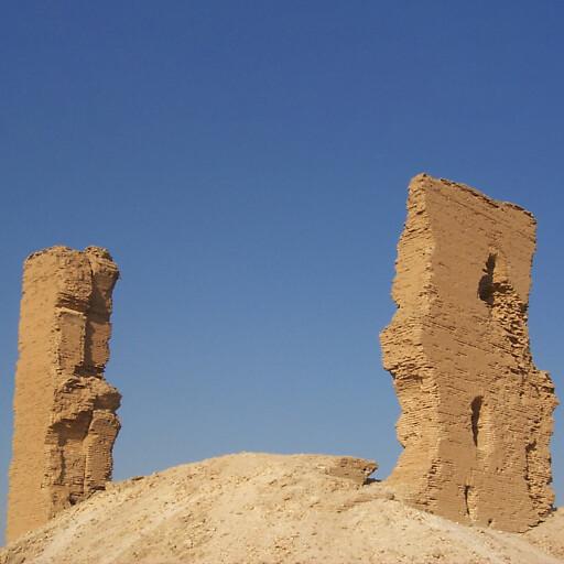 ruins at Tell Meskene