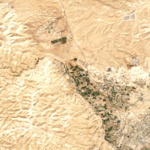 satellite view of the region around Tell el Jisr