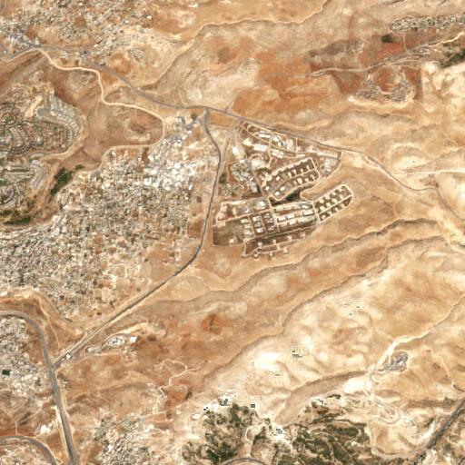 satellite view of the region around Khirbet Deir es Sidd