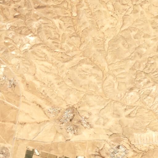 satellite view of the region around Horbat Tayyav