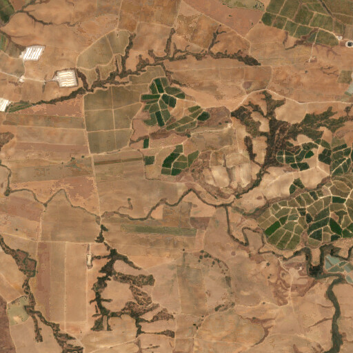 satellite view of the region around Tel Sheqef