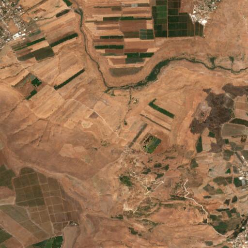 satellite view of the region around Shajarat el Kalb