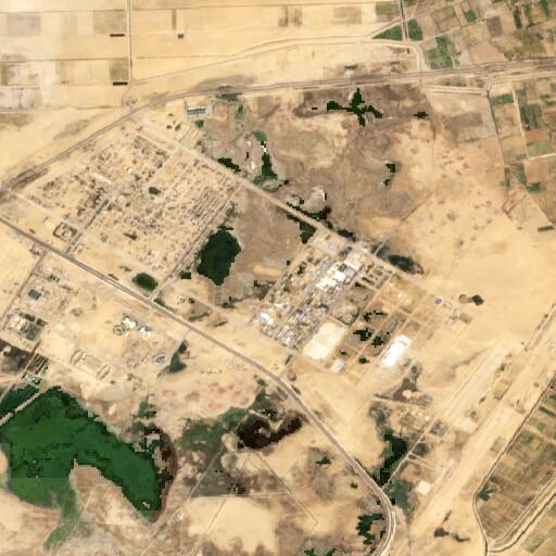 satellite view of the region around Tell Ahmar