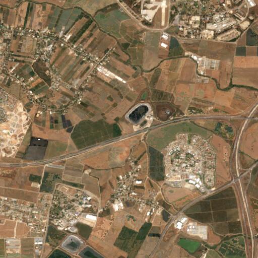 satellite view of the region around Khirbet el Mukheizin