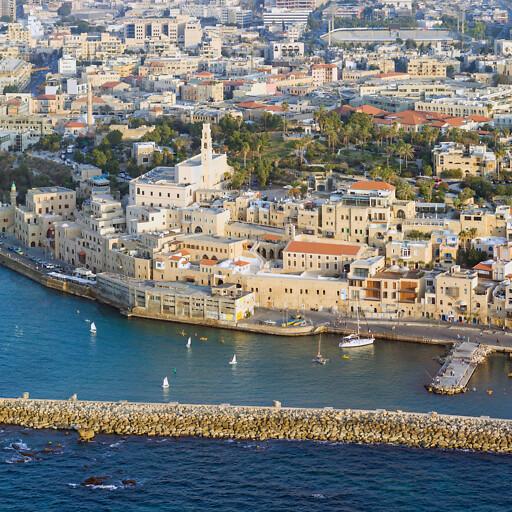 aerial cityscape of Jaffa
