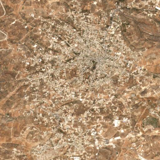 satellite view of the region around Jebel Salih
