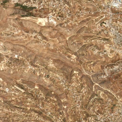 satellite view of the region around Wadi ar Rashrash