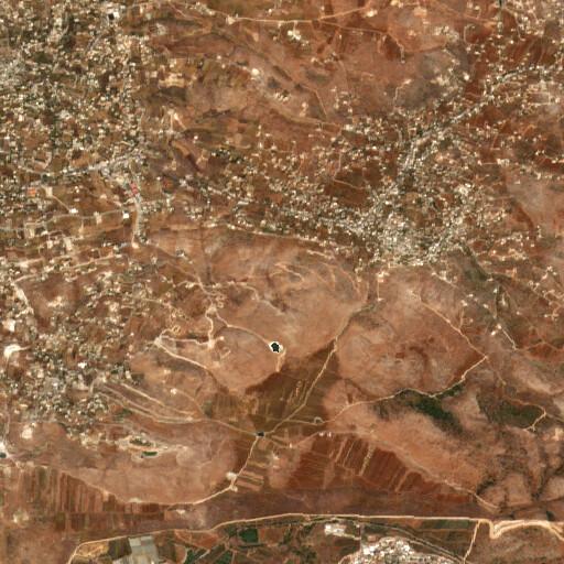 satellite view of the region around Khirbet el Qureiyeh