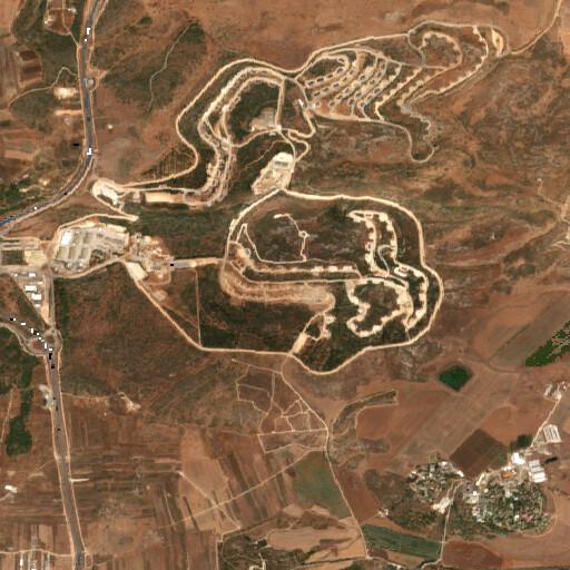satellite view of the region around Nimrin