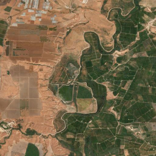 satellite view of the region around Makhadhet Abarah