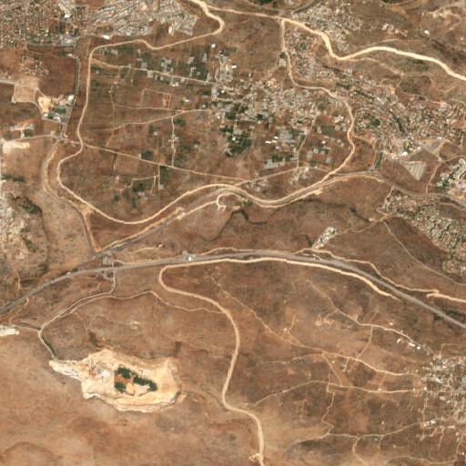 satellite view of the region around Khirbet Sirisye