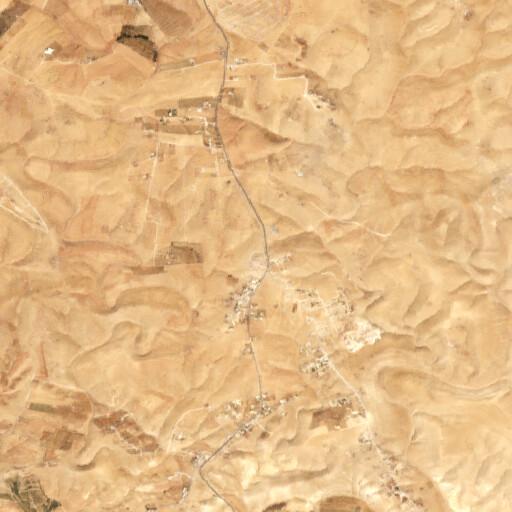 satellite view of the region around Qasr ez Za'feran I