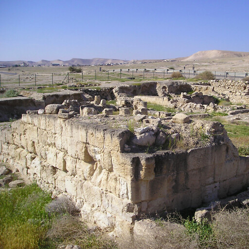 ruins at Khirbat al Beiyudat